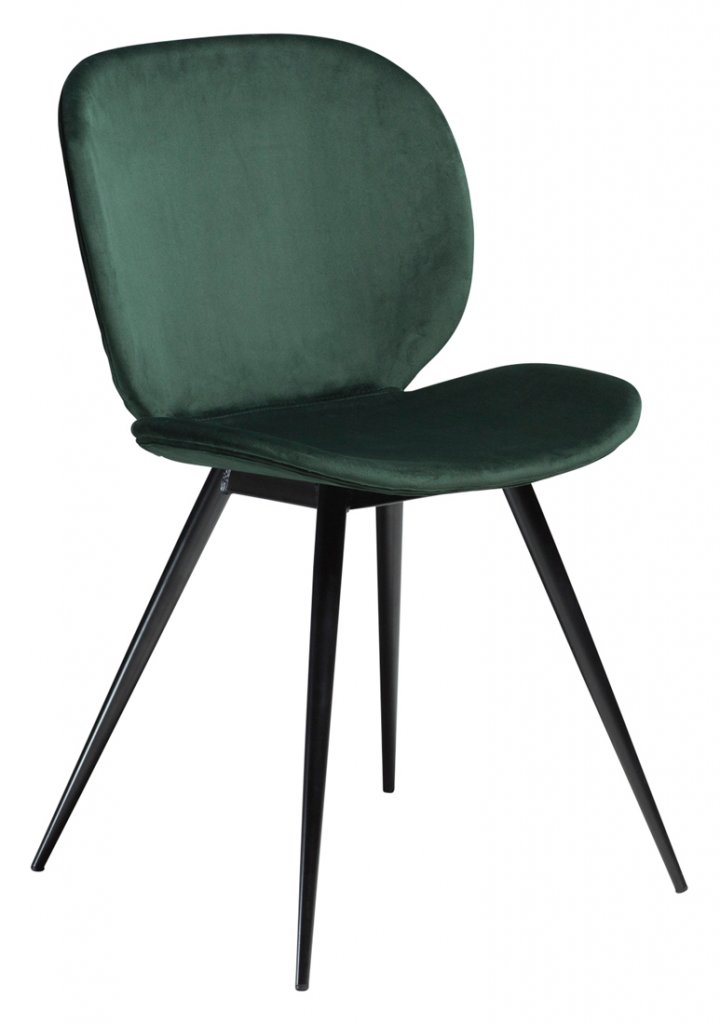 Cloud Sammet Emerald Green - Stol | Dan-Form