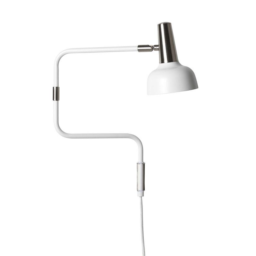 Ray Vit Nickel Vägglampa | CO Bankeryd | Bonus Möbler