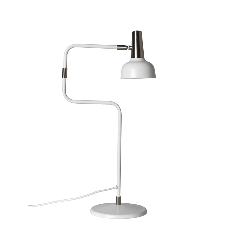 Ray Vit / Nickel - Bordslampa | CO Bankeryd