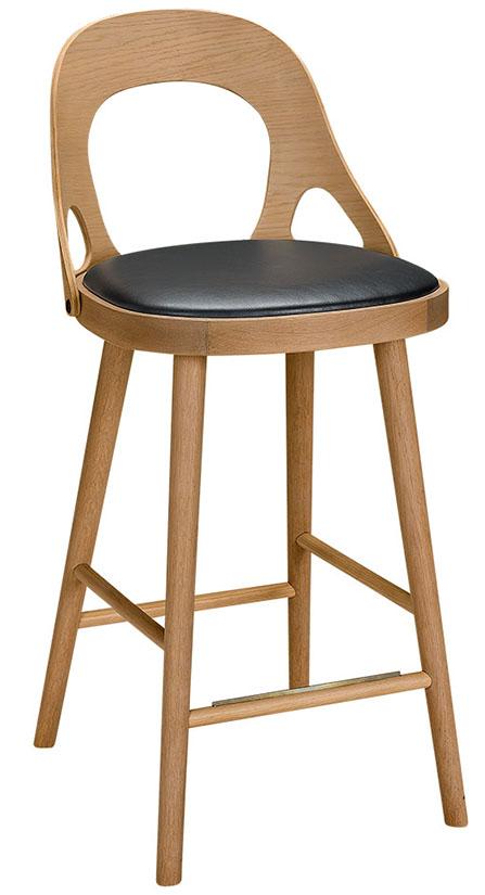 Colibri stol ek svart, bonded läder svart