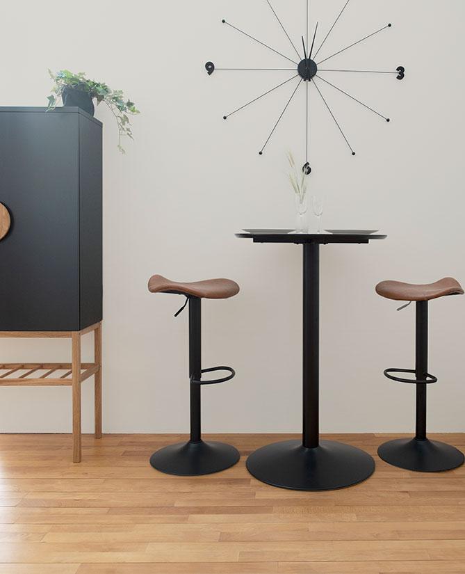 Zeb Brun Svart Barstol | Tenzo | Bonus Möbler